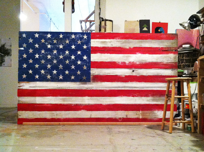Brilliant Barn Board Flag Guest Towels American Rustic