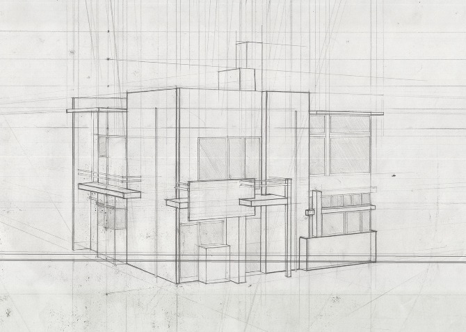 Precedent studies zachary sapinsley lewis for Exterior 1 point perspective
